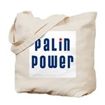 Palin Power blue font Tote Bag