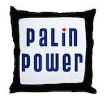 Palin Power blue font Throw Pillow