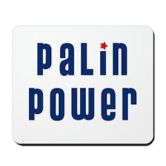 Palin Power blue font Mousepad