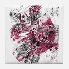 """""""Blood on the Cross"""" Tile Coaster"""