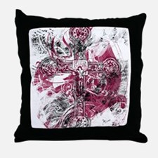"""Blood on the Cross"" Throw Pillow"