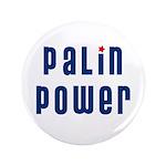 """Palin Power blue font 3.5"""" Button (100 pack)"""