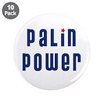 """Palin Power blue font 3.5"""" Button (10 pack)"""