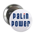 """Palin Power blue font 2.25"""" Button (10 pack)"""