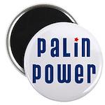 Palin Power blue font Magnet