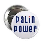 """Palin Power blue font 2.25"""" Button"""