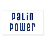 Palin Power blue font Rectangle Sticker 10 pk)
