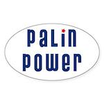 Palin Power blue font Oval Sticker (10 pk)