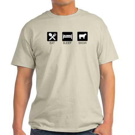 Eat, Sleep, Show (Steer) Light T-Shirt