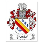 Graciani Family Crest Small Poster