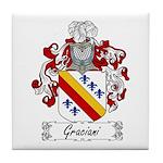 Graciani Family Crest Tile Coaster