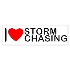 I Love Storm Chasing Bumper Bumper Sticker