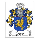 Grassi Family Crest Small Poster