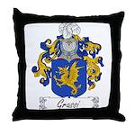Grassi Family Crest Throw Pillow
