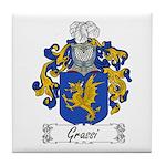 Grassi Family Crest Tile Coaster