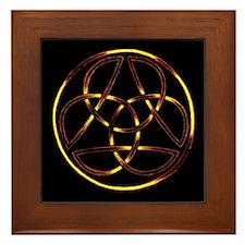 Fire Trinity Circle Framed Tile