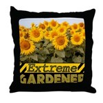 Extreme Gardener Throw Pillow