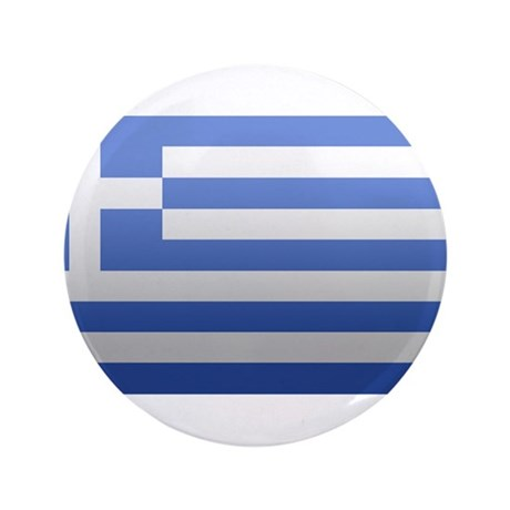 "Greek Flag 3.5"" Button"