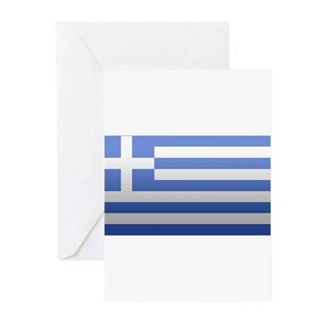 Greek Flag Greeting Cards (Pk of 10)