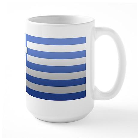 Greek Flag Large Mug