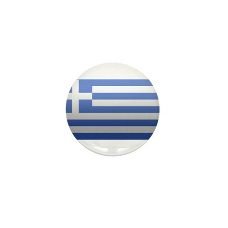 Greek Flag Mini Button (10 pack)