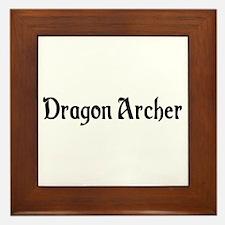 Dragon Archer Framed Tile