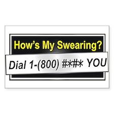 Swearing Rectangle Decal