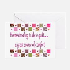 Homeschool Quilting Comfort Greeting Card