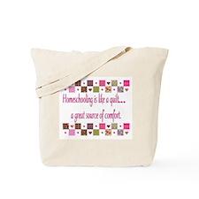 Homeschool Quilting Comfort Tote Bag