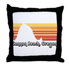 Cannon Beach Throw Pillow