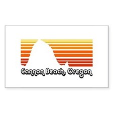Cannon Beach Rectangle Decal