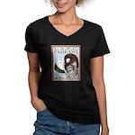 Pigeon Pageant1 Women's V-Neck Dark T-Shirt