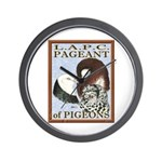 Pigeon Pageant1 Wall Clock