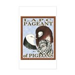 Pigeon Pageant1 Rectangle Sticker