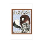 Pigeon Pageant1 Rectangle Sticker 10 pk)