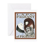 Pigeon Pageant1 Greeting Card