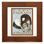 Pigeon Pageant1 Framed Tile