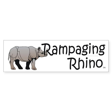 Rampaging Rhino Sticker (Bumper)