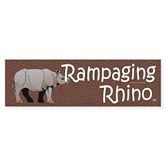 Rampaging Rhino Bumper Sticker