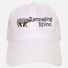 Rampaging Rhino Baseball Baseball Cap
