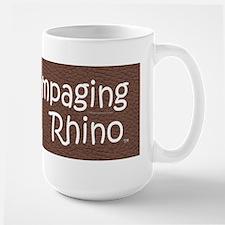 Rampaging Rhino Large Mug