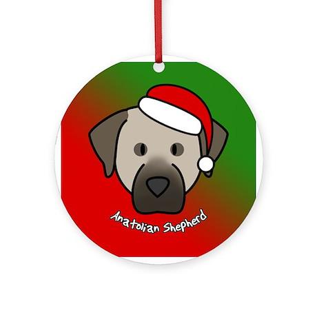 Cartoon Anatolian Shepherd Christmas Ornament