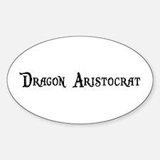 Dragon Aristocrat Oval Decal