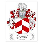 Graziani Family Crest Small Poster