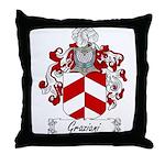 Graziani Family Crest Throw Pillow