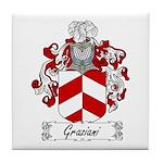 Graziani Family Crest Tile Coaster