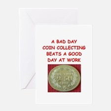 coin collector Greeting Card