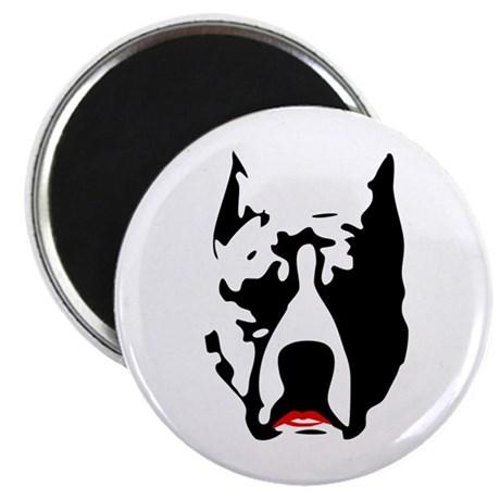 """Pit Bull with Lipstick 2.25"""" Magnet (10 pack)"""