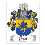 Greco Family Crest Small Poster
