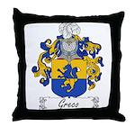 Greco Family Crest Throw Pillow